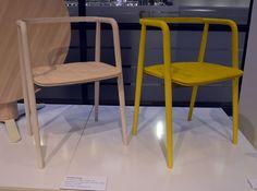 Mattias Stenbergs fantastiskt fina stolar, lanseras på Möbelmässan i februari. (Foto Kurbits)