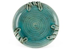 Turquoise Ceramic Plate, Large on One Kings Lane today