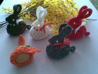 Zajączki Wielkanocne szydełkowe świąteczna ozdoba