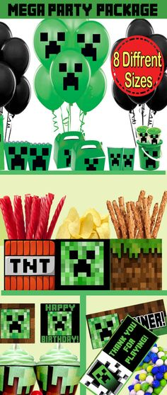 Minecraft Party Pack Minecraft Decoration by PartySuperhero, $25.00