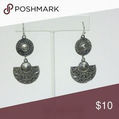 Silver Tone Tribal  Drop Dangle Earrings These unique silver tribal inspired earrings are one of a kind. Don't miss out on a chance to own these! Jewelry Earrings