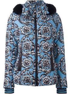 VERSACE hooded baroque puffer jacket. #versace #cloth #jacket