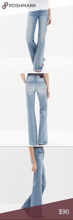 MADEWELL Flea Market Flare Jeans These jeans are leg-lengthening that give you a 70s cover girl look. Just add heels!  98%cotton, 2%elastane Button fly Madewell Jeans Flare & Wide Leg