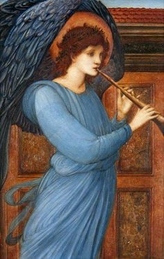 Sir Edward Burne-Jones,   The Angel    1881