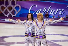 """With """"Blades of Glory,"""" Will Ferrell and Jon Heder stake an early claim to being the comedy couple of the year. Figure Skating Movies, She Movie, Movie Tv, National Lampoon Movies, Jon Heder, Male Figure Skaters, World Figure Skating Championships, Will Ferrell, Louis Armstrong"""