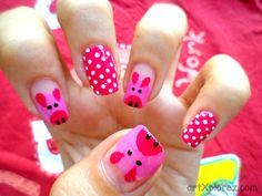 piglet nail-art step 5