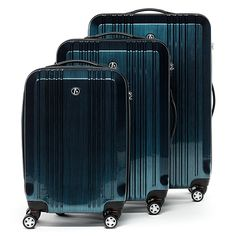 7947c5ce6d6b Shop for FergÉ Luggage Set 3 Piece Hard Shell Travel Trolley Cannes  Suitcase Set 4 Twin Spinner Wheels Blue. Starting from Compare live    historic luggage ...