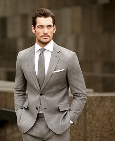 Ideas Wedding Suits Men Grey David Gandy For 2019 Gentleman Mode, Gentleman Style, Outfits Casual, Mode Outfits, Sharp Dressed Man, Well Dressed Men, Suit Fashion, Mens Fashion, Style Fashion