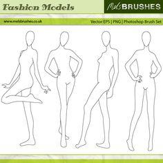 utilisez ces bases pour des dessins de mode...