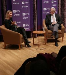 Devon Pike, president of Givenchy US and former CEO of De Beers, North America, joined MBA students and alumni for a 2014-2015 Langone Speaker Series event, presented by U.S. Trust.