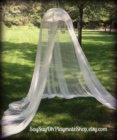❥ White Childrens Canopy Tent