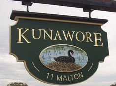 Kunawore Property Sign | Danthonia Designs. See more of our work at www;danthoniadesigns.com