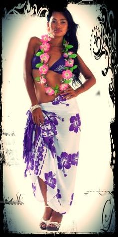 The floral or multi-colored sarong...present in every Island Girl's wardrobe :)