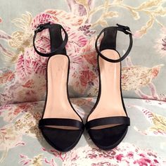 Zara strappy heels BNWOT These have been tried on a number of times but never actually worn. Zara minimalist style ankle strap heel. Price is FIRM, keeping if they don't sell Zara Shoes Heels