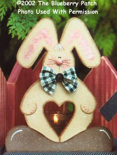 000232 96) Buster Bunny Votive Holders-candle holder, votive, bunny, easter, spring, votive