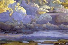 Battle in the Heavens, 1912 allegorical painting by Russian Symbolist painter Nicholas Roerich, Tempera Art And Illustration, Landscape Art, Landscape Paintings, Art Amour, Nicholas Roerich, Art Gallery, Art Watercolor, Ouvrages D'art, Paintings I Love