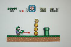 Screen Super Mario World Perler & Hama Beads