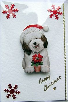 Christmas Card  Happy Christmas HandCrafted 3D by SunnyCrystals, £1.35
