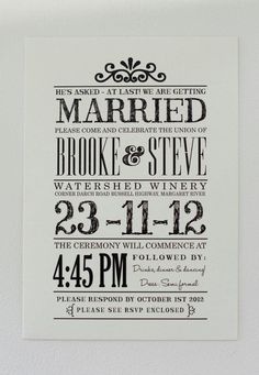 Architect wedding invitation