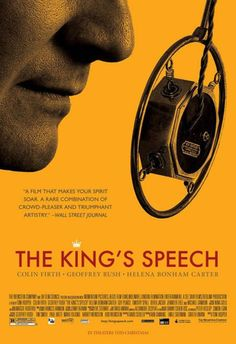 The King's Speech won the Academy Award for Best Picture, Best Director (Tom Hooper), Best Actor (Colin Firth), and Best Original Screenplay (David Seidler). The film had received 12 Oscar nominations, more than any other film. Besides the four categories it won, the film received nominations for Best Cinematography (Danny Cohen) and two for the supporting actors (Helena Bonham Carter and Geoffrey Rush), as well as two for its mise-en-scène: Art Direction and Costumes.