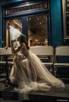 liz martinez 2018 bridal sleeveless sheer strap v neck heavily embellished bodice tulle skirt romantic sexy soft a  line wedding dress (12) sdv -- Liz Martinez 2018 Wedding Dresses