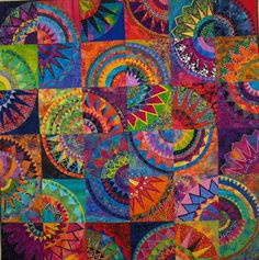 Cinco de Mayo by Heather the quilter, based on a Karen Stone quilt