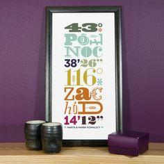 Koordynaty Miejsca - wydruk obramowany - TypoPrint Home Decor, Decoration Home, Room Decor, Home Interior Design, Home Decoration, Interior Design