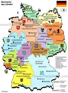 Germany is broken up into numerous political divisions called Lander.