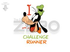 Run Disney Marathon 2017 - I am a Goofy Challenge Runner by TheStudioZero on Etsy