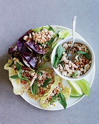 Thai Chicken and Wheat Berry Salad Recipe on Food & Wine - I'd use shredded chicken.
