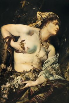 Hans Makart (1840-1884) - The Death of Cleopatra (1875)