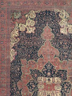 FERAHAN SAROUK, West Central Persian, 14ft 8in x 27ft 2in, Circa 1825. Perhaps the most deeply sought after carpet in our current collection, this mesmerizing early Ferahan Sarouk exhibits the intricate formality and stunningly balanced design only experienced in the most rarified early art carpets. At almost two centuries of age, its luminous colors still shine with a natural patina, elucidating every detail of its symmetrical nested medallions and infinitely detailed floral vinery.