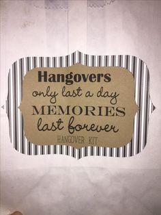 Bachelorette party hangover kit