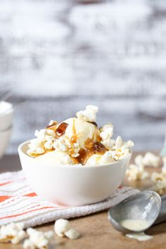 Sweet Corn Ice Cream with Caramel-Candied Bacon