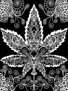Pot Leaf Marijuana Art - CannabisTutorials.com