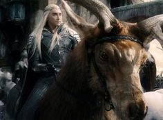 Thranduil and his elk