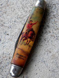 Vintage Pocket Folding Knife Souvenir Novelty Rodeo Canada