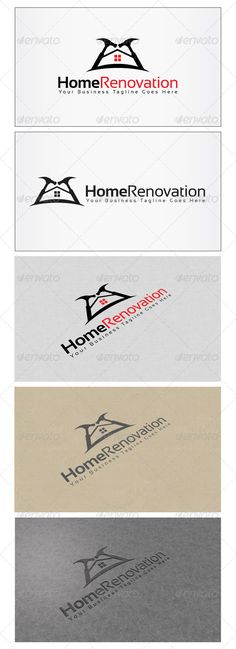 Home Renovation Logo — Photoshop PSD #construction #carpentry • Available here → https://graphicriver.net/item/home-renovation-logo/6054464?ref=pxcr