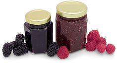Canned jams and jellys  Google Image Result for http://www.sks-bottle.com/RasBlkJamJars.jpg