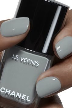 Want some ideas for wedding nail polish designs? This article is a collection of our favorite nail polish designs for your special day. Wedding Nail Polish, Chanel Nail Polish, Chanel Nails, Nail Polish Designs, Nail Polish Colors, Nail Designs, Nagellack Design, My Nails, Hair And Nails