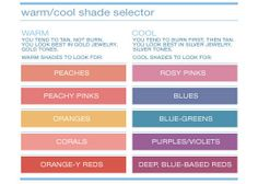 Colors for warm skin tone
