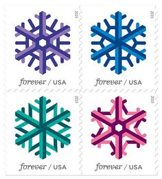 The U.S. Postal Service has launched its Geometric Snowflakes Forever stamps for the 2015 holidays