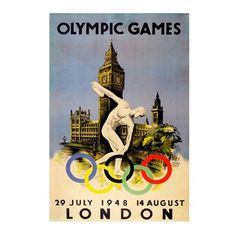 Olympic games poster-london 1948