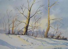 Alaska Trees: watercolour video lesson by Frank Halliday on www.ArtTutor.com