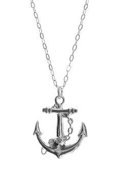 Silver Anchor Necklace