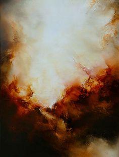 Grote Canvas Abstract Olieverfschilderij door SimonkennysPaintings