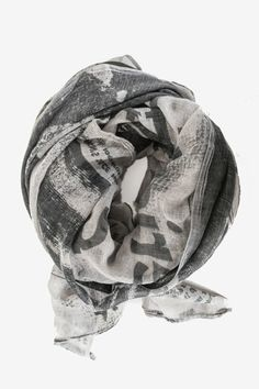 Newsprint Scarf - Got some lunar love? This scarf features an oversized photograph of the newspaper announcement of the moon landing!