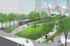 Rendering of Final Plan for Hudson Park and Boulevard