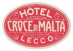 Lecco - Hotel Croce di Malta by Luggage Labels