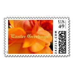 Orange Flower Spring Easter Postage Stamps